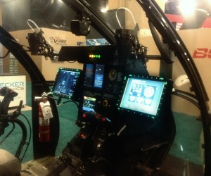 Mission Enhanced glass cockpit upgrades to the MD500 series aircraft complete with Fixed Forward gun sights