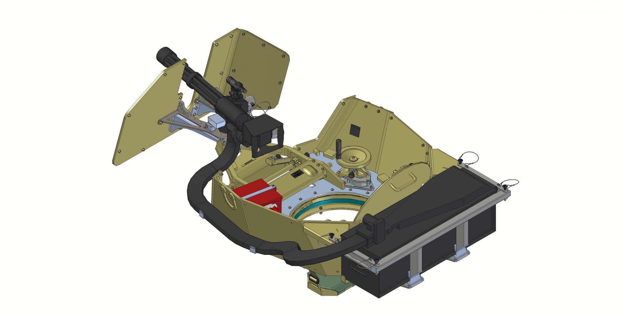 MR550 with manual minigun