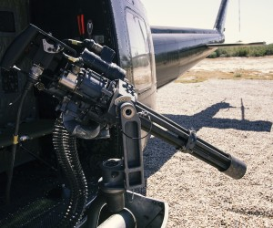 Dillon Aero Flex Fire Mount for Bell Huey series aircraft configured with M134D-H